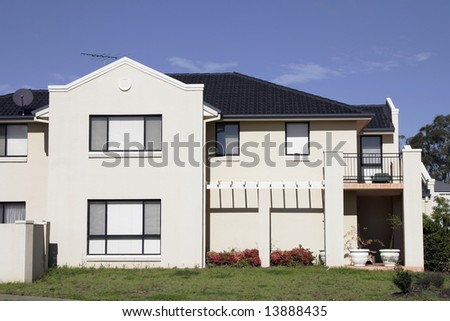 Modern Town House In A Sydney Suburb On A Summer Day, Australia