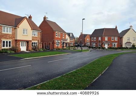 Modern Town Houses - stock photo