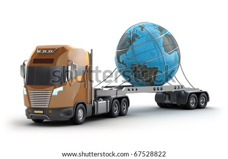 Modern truck carrying the earth. My own design