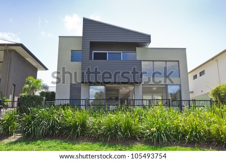 Modern two story Australian house front
