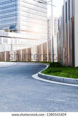 Modern urban architecture and urban roads