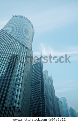 modern urban buildings of Shanghai financial center.