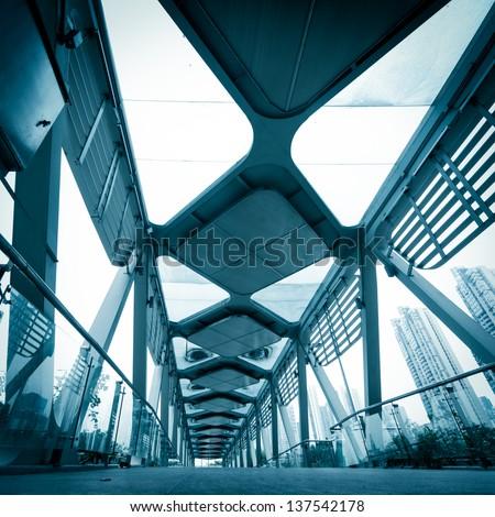 modern urban city architectural platform bridge #137542178