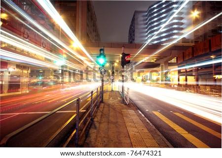 Modern urban landscape at night #76474321