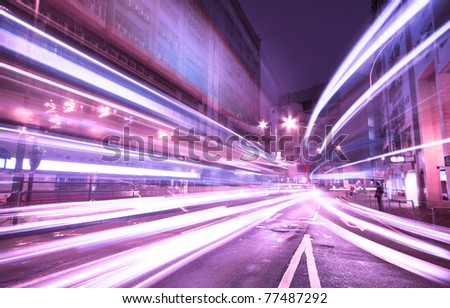 Modern urban landscape  in hong kong. - stock photo