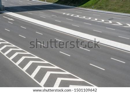 Modern urban traffic highway infrastructure highway pavement #1501109642