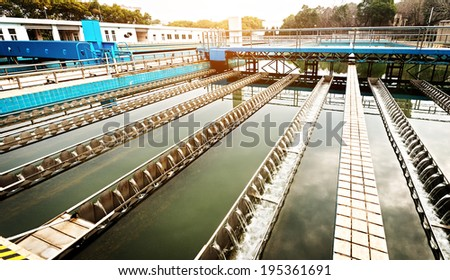 Modern urban wastewater treatment plant #195361691