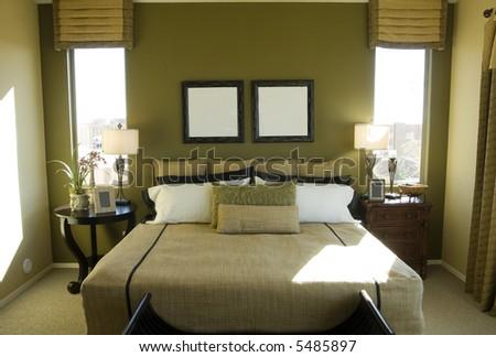 Modern vibrant bedroom interior design