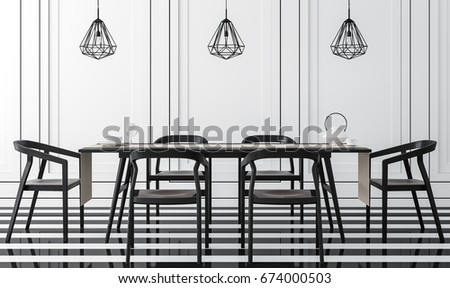 modern vintage dining room with ...