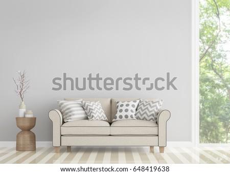 modern vintage living room 3d...