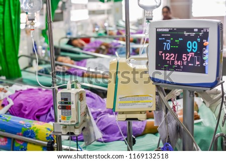 Vital signs monitor in hospital Images and Stock Photos
