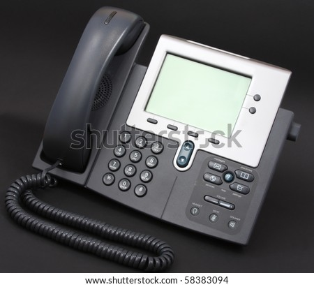 Modern Voip Phone on black