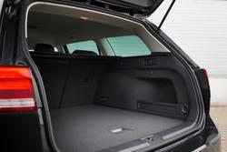 Modern wagon car open trunk. Car boot is open