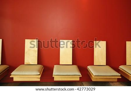 Modern waiting room - stock photo