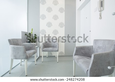 Modern waiting room in dental clinic #248274208