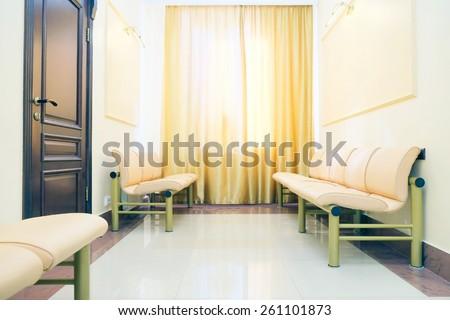 Modern waiting room in dental clinic
