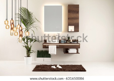 modern wall clean bathroom style and interior decorative design, modern lamp #631650086