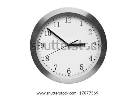 modern wall clock - stock photo