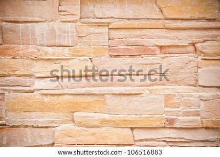modern wall decoration with small marble tiles