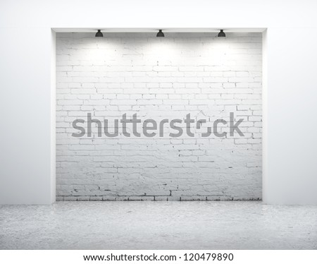 modern wall in white room