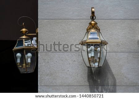 Modern wall lamp exterior lighting bulbs decoration contemporary building #1440850721