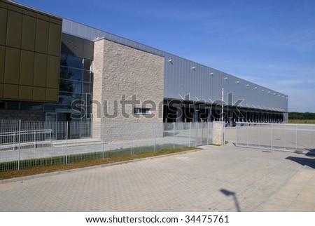 Modern Warehouse Loading Docks #34475761