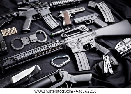 modern weapon, black background #436762216