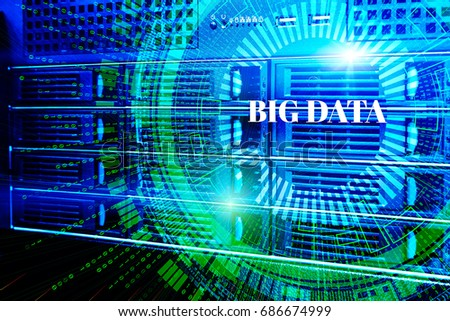 Modern web network and internet telecommunication technology, big data storage cloud computing computer service business concept