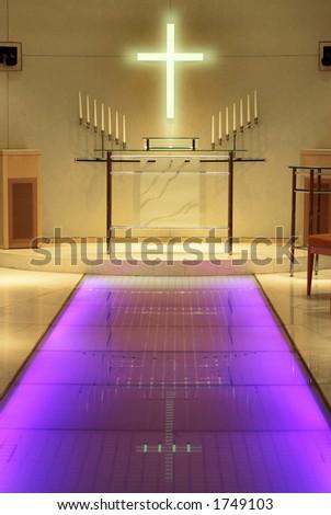 stock photo Modern wedding chapel