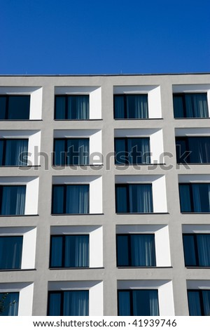 modern white apartment building in berlin germany stock photo 41939746 shutterstock. Black Bedroom Furniture Sets. Home Design Ideas