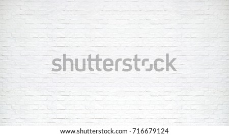 Photo of  Modern white brick wall texture for background