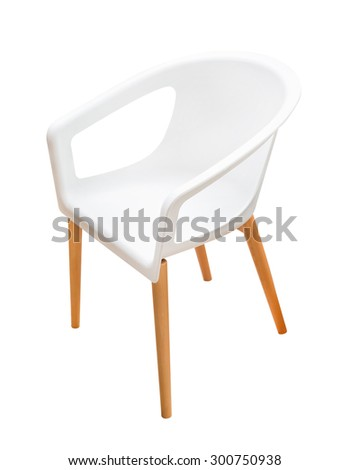 modern white chair isolated on white background #300750938