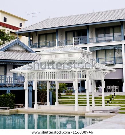 modern white wood house