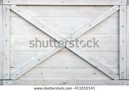 Modern White Wooden Box Front Side Background Or Texture, Close Up