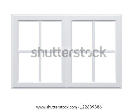 Modern window, isolated on white background.
