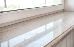 Modern window sill, closeup