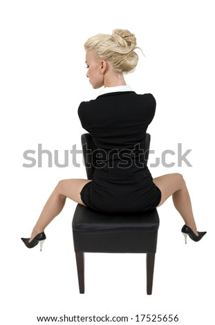 modern woman on isolated background