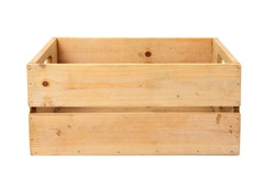 Modern wooden box with clipping path. These crates are very handy to store all kinds of things.