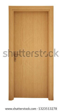 Modern wooden interior door #1323513278