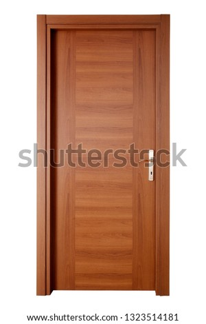 Modern wooden interior door #1323514181