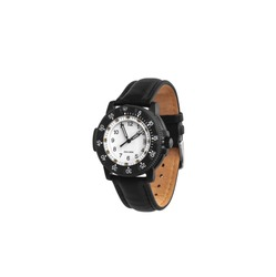 Modern wrist mechanical watch isolate on a white background. Men's watch for sports and everyday wear.