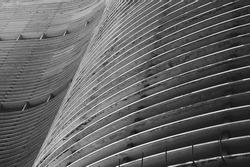 Modernist Brazilian architecture curved concrete background Sao Paulo Brazil