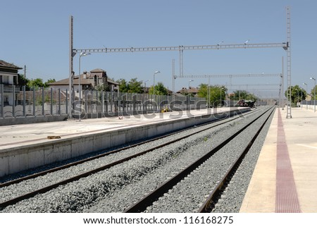 Modernization of railway station - electrification and adding new rails