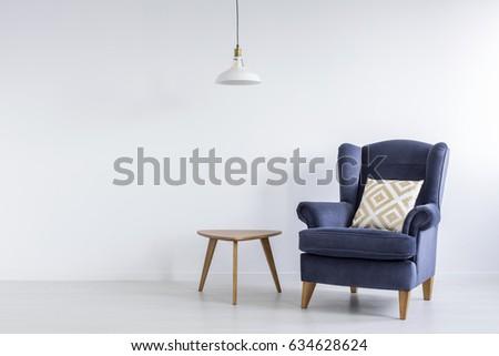 modest decor of white living...