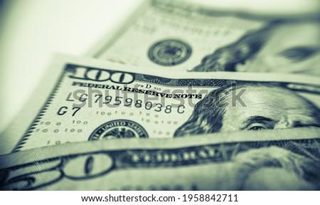 Modey, quarter, dollars, handred dolars,cash, metal money Zdjęcia stock ©