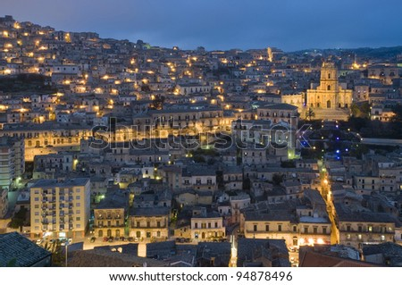 modica by night, ragusa, sicily, baroque, unesco