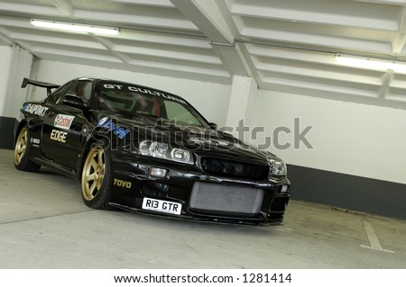 Modified Nissan Skyline - stock photo