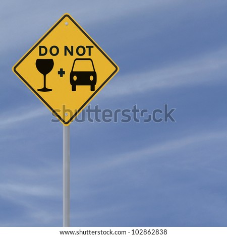 Modified road sign highlighting the danger of drinking and driving