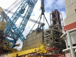 Modules Decommissioning in The North Sea