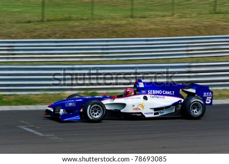 MOGYOROD, HUNGARY - JUNE 5: Kevin Ceccon drives for team Ombra Racing at the Auto GP on June 5, 2011 in Mogyorod, Hungary